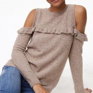 Ann Taylor LOFT Open Shoulder Sweater